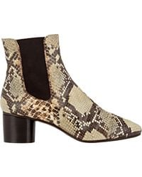 Isabel Marant Brown Women's Python-stamped Danae Boots