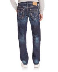 True Religion - Blue Ricky Straight-leg Jeans for Men - Lyst