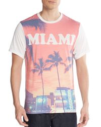 Threads For Thought Pink Miami Graphic Tee for men