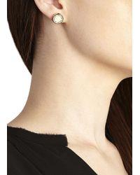 Marc By Marc Jacobs | Metallic Gold Tone Enamel Stud Earrings | Lyst
