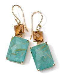 Ippolita | Green 18k Gold Rock Candy Gelato Rectangle Snowman Earrings | Lyst