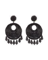 Kenneth Jay Lane | Beaded Chandelier Earrings - Black | Lyst
