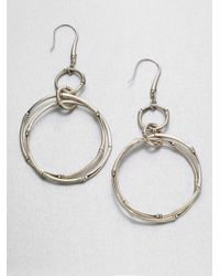 John Hardy | Metallic Sterling Silver Link Earrings | Lyst