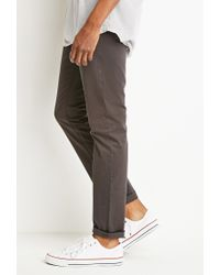 Forever 21 | Gray Classic Twill Pants for Men | Lyst