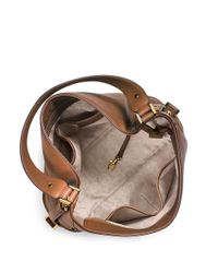 MICHAEL Michael Kors | Brown Bedford Belted Leather Shoulder Bag | Lyst