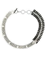 Iosselliani Metallic 'Metal Instinct' Cheetah Necklace