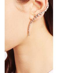 Ryan Storer - Metallic Rose Gold-plated Swarovski Crystal Ear Cuff And Stud Earring - Lyst