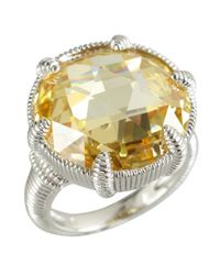 Judith Ripka - Yellow Sterlings Silver And Canary Crystal 'Eclipse' Ring - Lyst