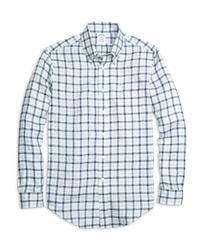Brooks Brothers - Blue Regent Fit Gingham Linen Sport Shirt for Men - Lyst