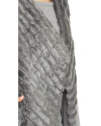 BB Dakota | Gray Keith Faux Fur Vest - Dark Grey | Lyst