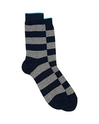 Barneys New York | Blue Striped Mid-calf Socks for Men | Lyst