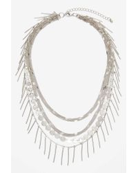 Nasty Gal - Gray Shayla Layered Necklace - Lyst