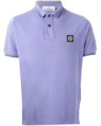 Stone Island Pink Logo Polo Shirt for men