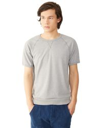Alternative Apparel | Gray Gym Rat 2.0 Eco-mock Twist Sweatshirt for Men | Lyst