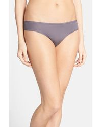 Natori | Gray 'bliss' Thong | Lyst