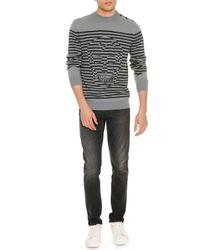 Alexander McQueen Gray Stone-wash Stretch Denim Jeans for men