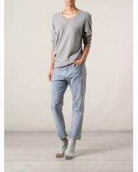 Societe Anonyme Gray Round Neck Sweater for men