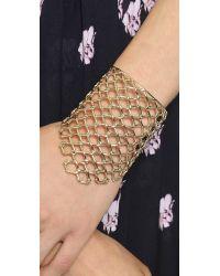 Alexis Bittar - Metallic Asymmetrical Barbed Link Cuff Bracelet - Gold - Lyst