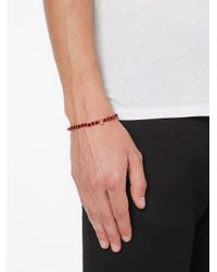 Luis Morais | Black Mini Scarab Beaded Bracelet | Lyst