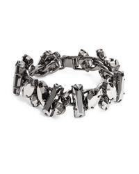 R.j. Graziano Metallic Stone Chain Bracelet