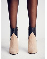 Free People | Natural Charles David Womens East Side Heel Boot | Lyst