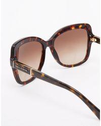 Dolce & Gabbana Brown Oversized Sunglasses