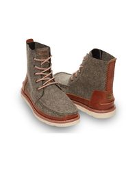 TOMS - Gray Charcoal Felt Men'S Searcher Boots for Men - Lyst