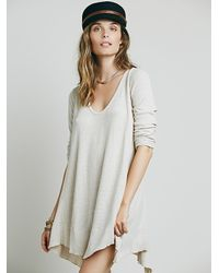 Free People | Gray We The Free Marigold Tunic | Lyst
