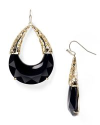 Kendra Scott - Black Reyna Earrings - Lyst