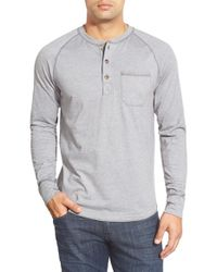 The North Face | Blue 'seward' Pocket Henley for Men | Lyst