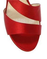 Nina - Red Consula Satin Stilettos - Lyst