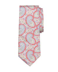Brooks Brothers - Red Small Paisley Print Tie for Men - Lyst