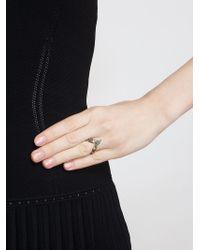 Yvonne Léon | Green 18Kt Yellow Gold Tsavorite Leaf Ring | Lyst