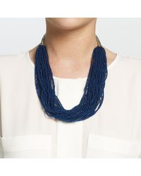 John Lewis - Blue Layered Sead Bead Necklace - Lyst