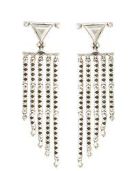House of Harlow 1960 | Metallic Tres Tri Fringe Earrings | Lyst