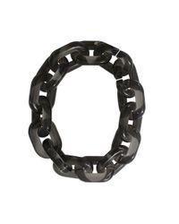 Stella McCartney Black Plexy Chain Necklace