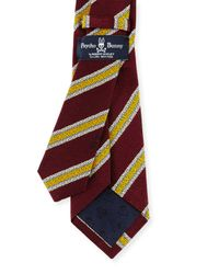 Psycho Bunny - Purple Stripe Silk & Wool Tie for Men - Lyst