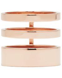 Repossi | Metallic Rose Gold Triple Band Berbere Ring | Lyst