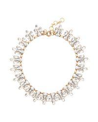 J.Crew - Metallic Crystal Leaves Necklace - Lyst
