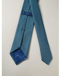 Brioni Blue Tie And Handkerchief Set for men