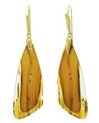 Annette Ferdinandsen - Orange Agate Moth Wing Earring - Lyst