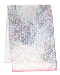 Ted Baker White Sequin Snow Blossom Scarf
