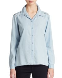 Jessica Simpson - Blue Nomad Chambray Top - Lyst