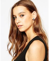 Bill Skinner - Metallic Jungle Flower Stud Earrings - Lyst