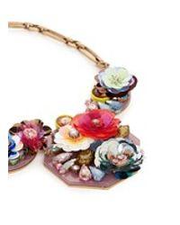 J.Crew | Multicolor Blooming Sequin Paillette Bib Necklace | Lyst