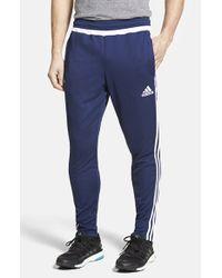 Adidas Originals Blue 'tiro 15' Slim Fit Climacool Training Pants for men