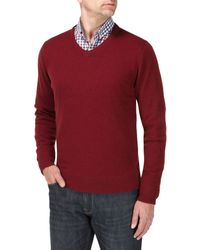 Skopes - Red Lerwick Knitwear for Men - Lyst