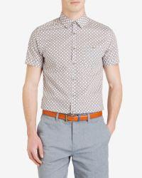 Ted Baker - Orange Geo Print Shirt for Men - Lyst