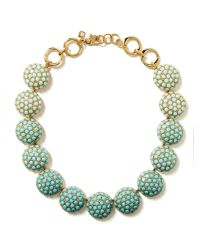 Banana Republic - Green Poppy Statement Necklace Mint - Lyst