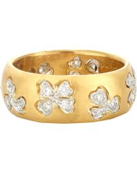 Cathy Waterman | Metallic Floating Lights Wildflower Ring | Lyst